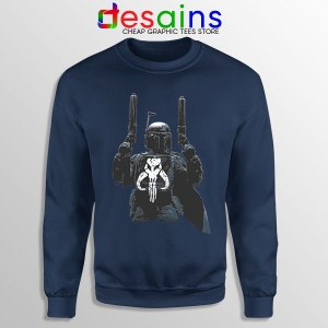 Punisher Galactic Star Wars Navy Sweatshirt The Mandalorian