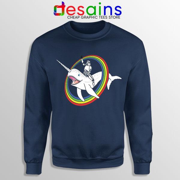 Stormtrooper Pride Rainbow Navy Sweatshirt Narwhal LGBT
