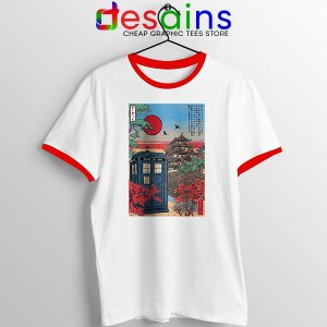 Tardis Blue Paint Japan Red Ringer Tee Doctor Who BBC
