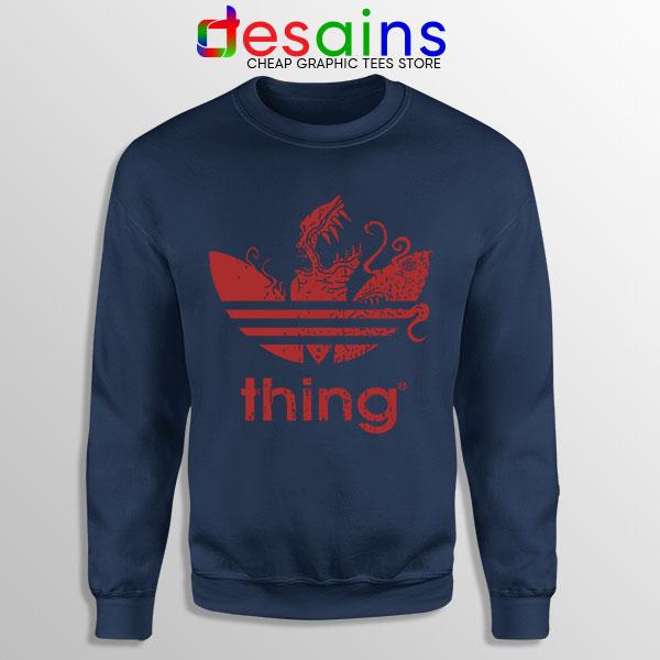 Thing Outpost 31 Adidas Navy Sweatshirt John Carpenter