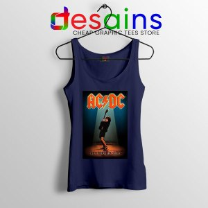 Best AC DC Hits Greatest Navy Tank Top Let There Be Rocks
