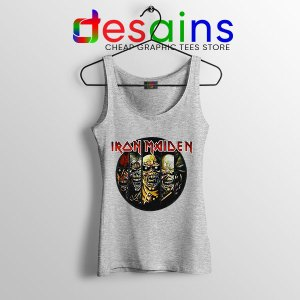 Best Iron Maiden Cover Art Sport Grey Tank Top Discography Albums