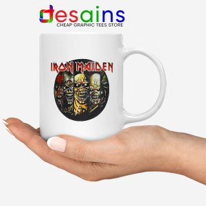 Best Iron Maiden Cover Art White Mug Discography Albums