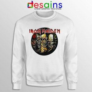 Best Iron Maiden Cover Art White Sweatshirt Discography Albums
