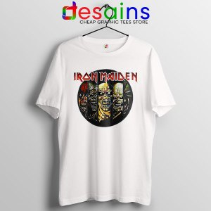 Best Iron Maiden Cover Art White T Shirt Discography Albums