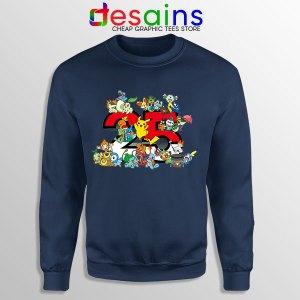 Best Pokémon Universe Navy Sweatshirt 25th Anniversary