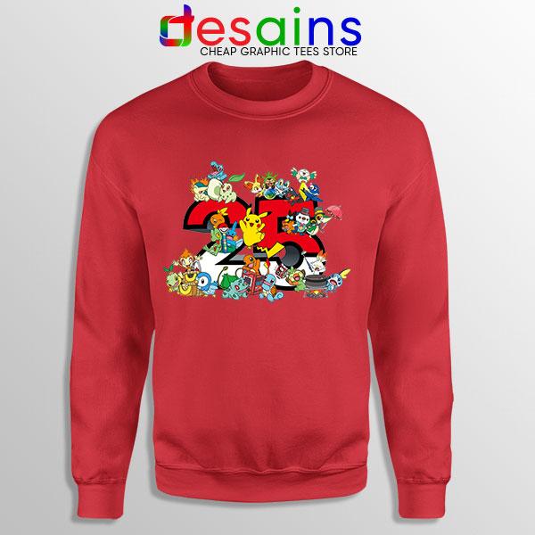 Best Pokémon Universe Red Sweatshirt 25th Anniversary