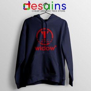 Black Widow Marvel Adidas Navy Hoodie Movie Apparel