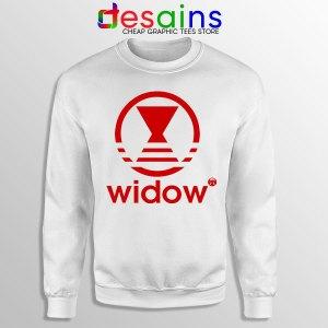 Black Widow Marvel Adidas White Sweatshirt Movie