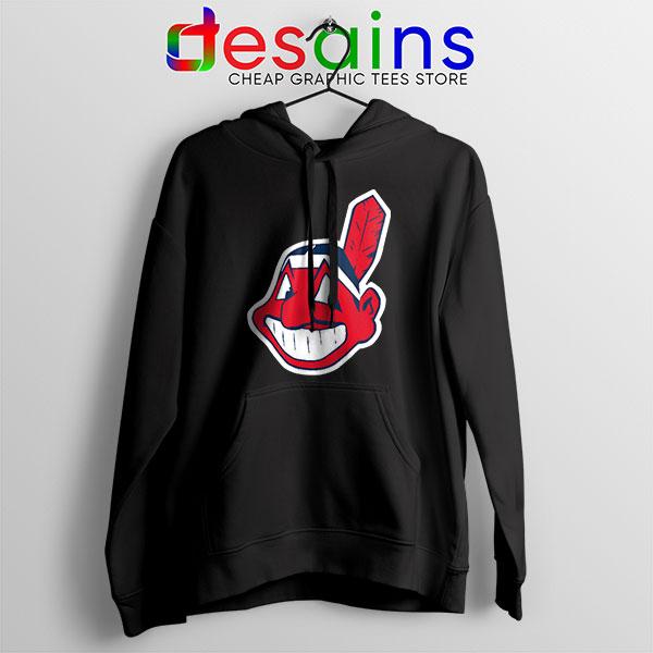 Buy Chief Wahoo Logo Black Hoodie Cleveland Indians MLB