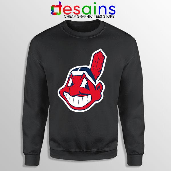Buy Chief Wahoo Logo Black Sweatshirt Cleveland Indians MLB