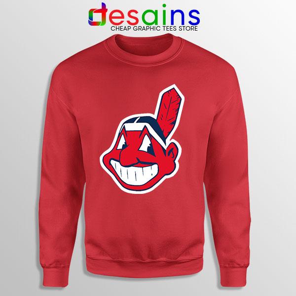 Buy Chief Wahoo Logo Red Sweatshirt Cleveland Indians MLB