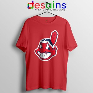 Buy Chief Wahoo Logo Red T Shirt Cleveland Indians MLB
