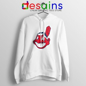 Buy Chief Wahoo Logo White Hoodie Cleveland Indians MLB