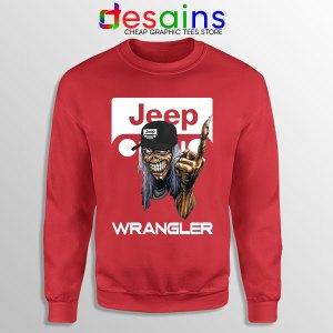 Buy Jeep Maiden Skull Red Sweatshirt Wrangler Heavy Metal
