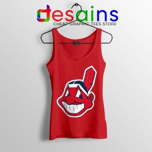 Chief Wahoo Logo Red Tank Top Cleveland Indians MLB