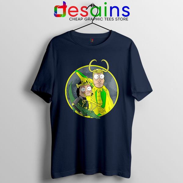 Classic Loki Rick Sanchez Navy T Shirt Variant of Loki