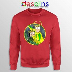 Classic Loki Rick Sanchez Red Sweatshirt Variant TVA