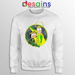 Classic Loki Rick Sanchez White Sweatshirt Variant TVA