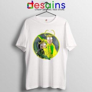 Classic Loki Rick Sanchez White T Shirt Variant of Loki