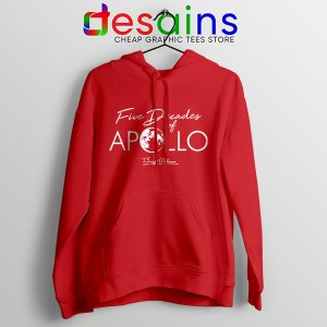 Five Decades of Apollo Red Hoodie Elon Musk