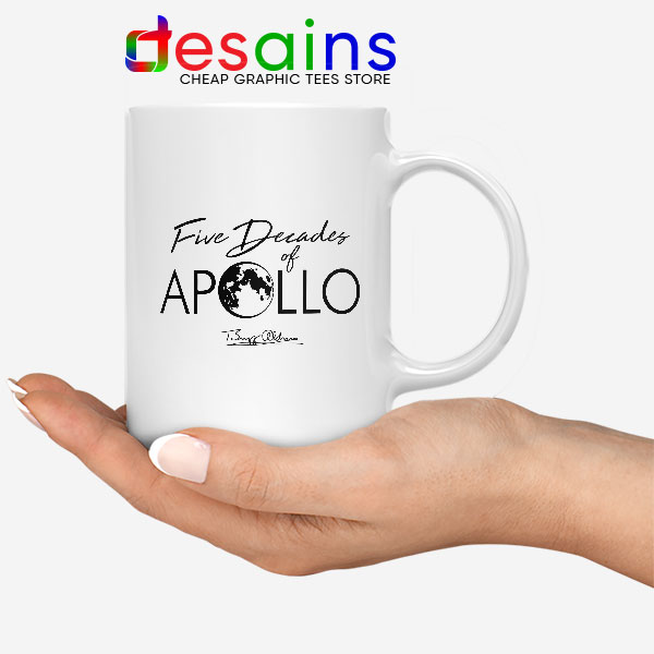 Five Decades of Apollo White Mug Elon Musk SpaceX