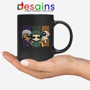 Glass Film Powerpuff Girls Black Mug Cartoon Split