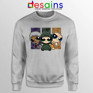 Glass Film Powerpuff Girls Sport Grey Sweatshirt Cartoon Split