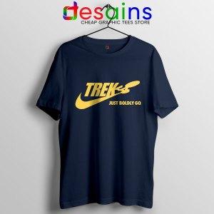 Go Boldly Star Trek Nike Navy T Shirt Just Do It
