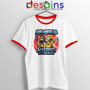 Homer Masters Of The Beer Red Ringer Tee Simpsons