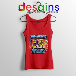 Homer Masters Of The Beer Red Tank Top Simpsons