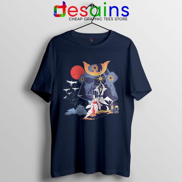 Japanese Samurai Star Wars Navy T Shirt Darth Vader