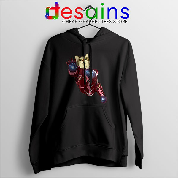 Meow Iron Man Avengers Hoodie Funny Cats
