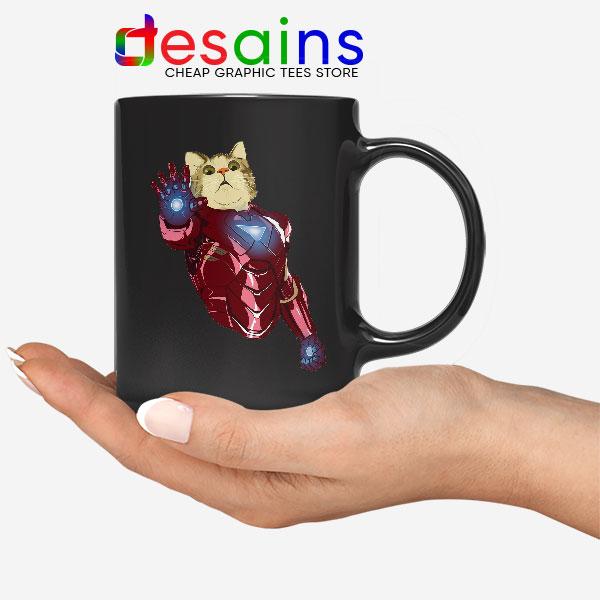 Meow Iron Man Avengers Mug Funny Cats