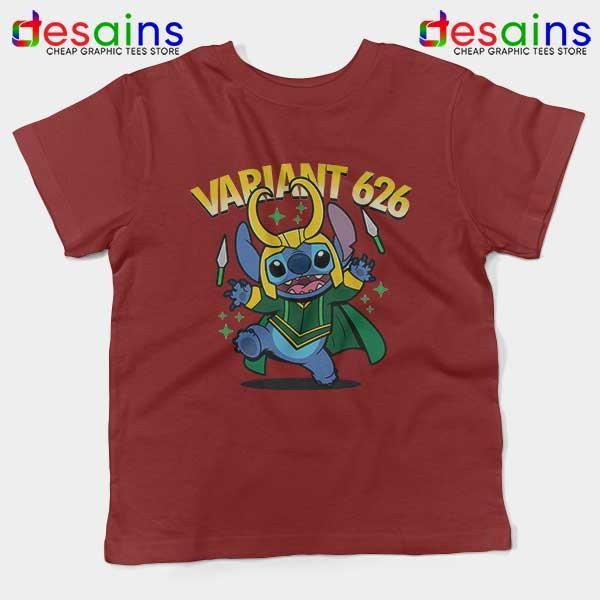 Variant Loki Funny Stitch Red Kids Tee Marvel Comics TVA