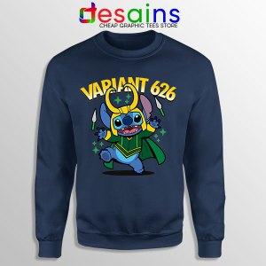 Variant Loki Funny Stitch Sweatshirt Marvel Comics TVA