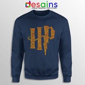 Wizard World Harry Potter Navy Sweatshirt List of Spells