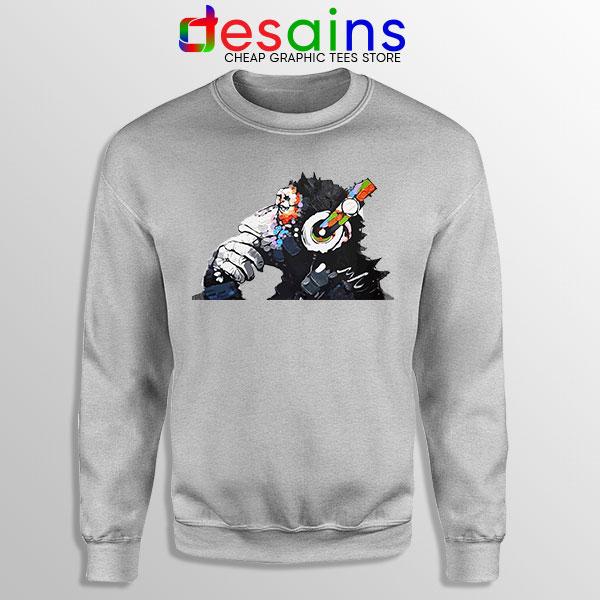 Best Banksy DJ Monkey Sport Grey Sweatshirt Street Art