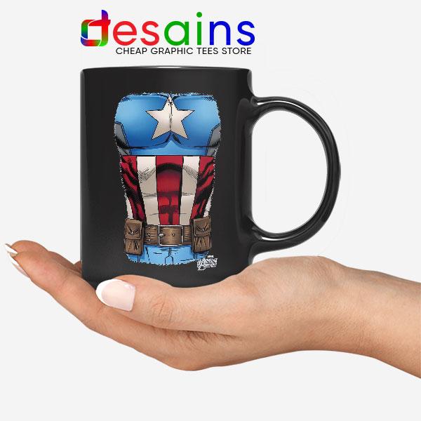 Captain America Chest Flag Black Mug Avengers Endgame