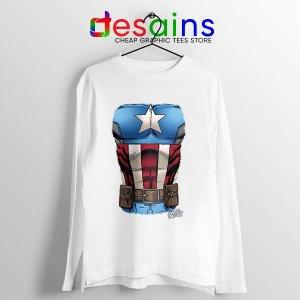Captain America Chest Flag Long Sleeve Tee Avengers