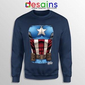 Captain America Chest Flag Navy Sweatshirt Avengers