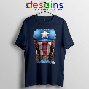 Captain America Chest Flag Navy T Shirt Avengers Endgame