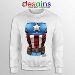 Captain America Chest Flag Sweatshirt Avengers