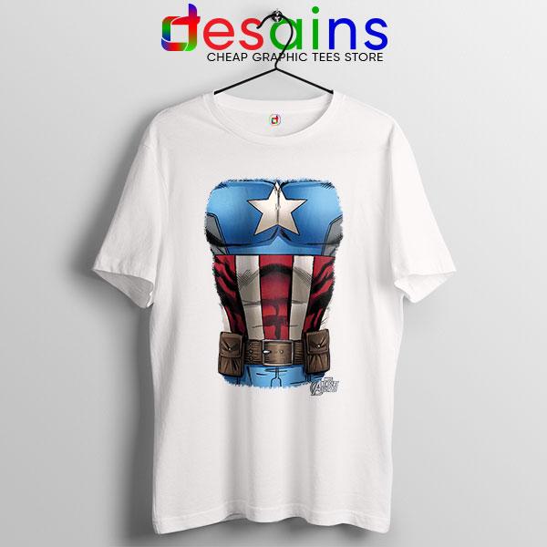 Captain America Chest Flag T Shirt Avengers Endgame