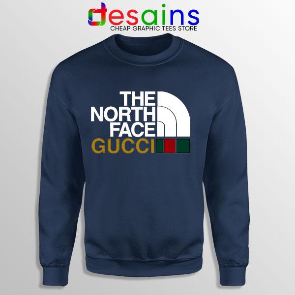 Cheap North Face Gucci Navy Sweatshirt Funny Apparel