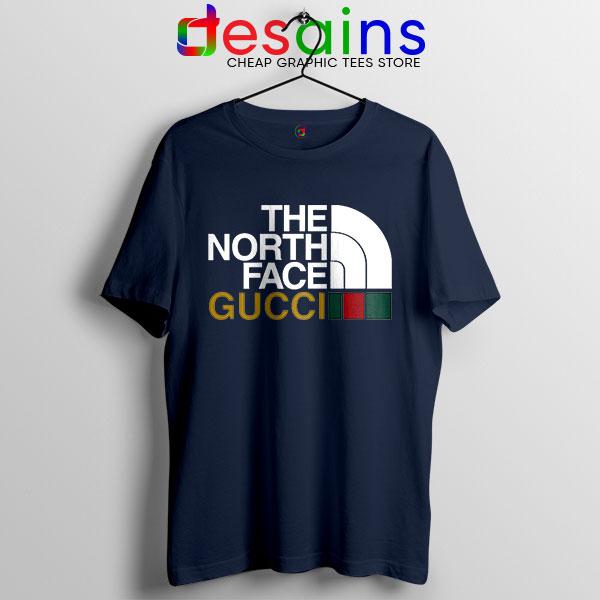 Cheap North Face Gucci Navy T Shirt Funny Apparel