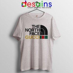 Cheap North Face Gucci Sport Grey T Shirt Funny Apparel