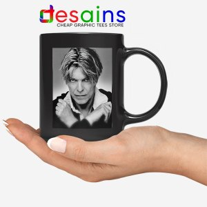 David Bowie Eyes Color Black Mug Album Cover