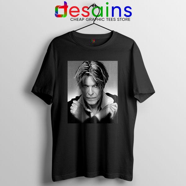 David Bowie Eyes Color Black T Shirt Album Cover