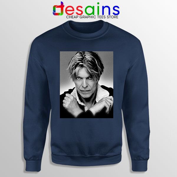David Bowie Eyes Color Navy Sweatshirt Album Cover